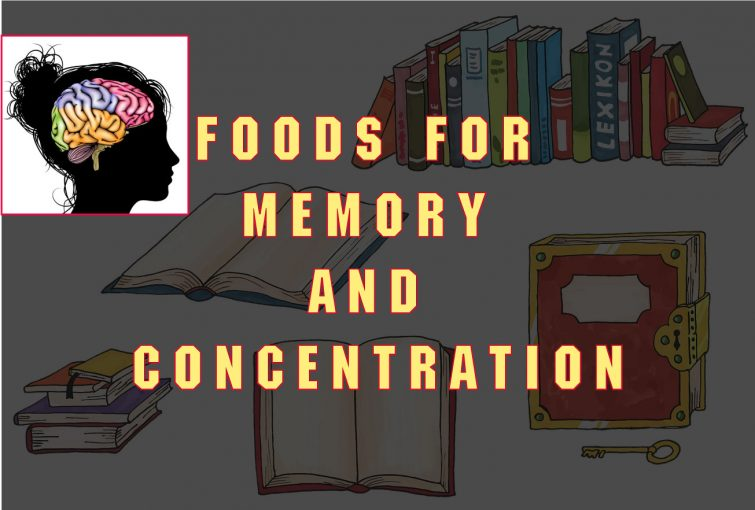 Foods that improve memory and concentration