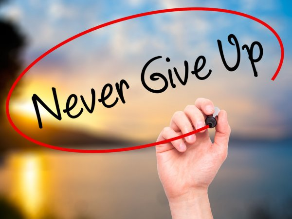 never give up images