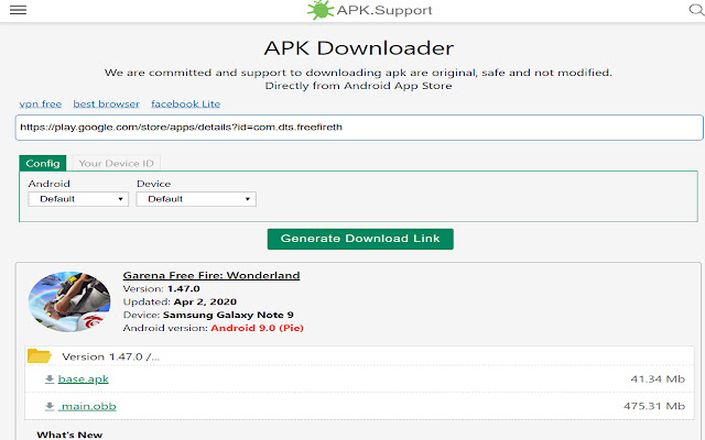 APK downloader chrome extension